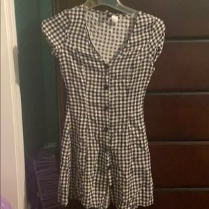 Checkered fit and flare dress